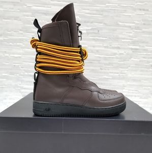 New NIKE Air Force 1 High Baroque Brown Boots
